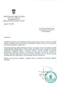Čestitka Hrvatskom boksačkom savezu