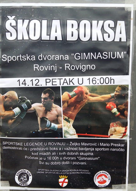 Sportska Hrvatska skola boksa danas u Rovinju